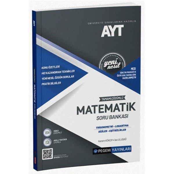AYT Matematik Trigonometri-Logaritma-Diziler-Eşitsizlikler Soru Bankası Pegem Akademi Yayınları