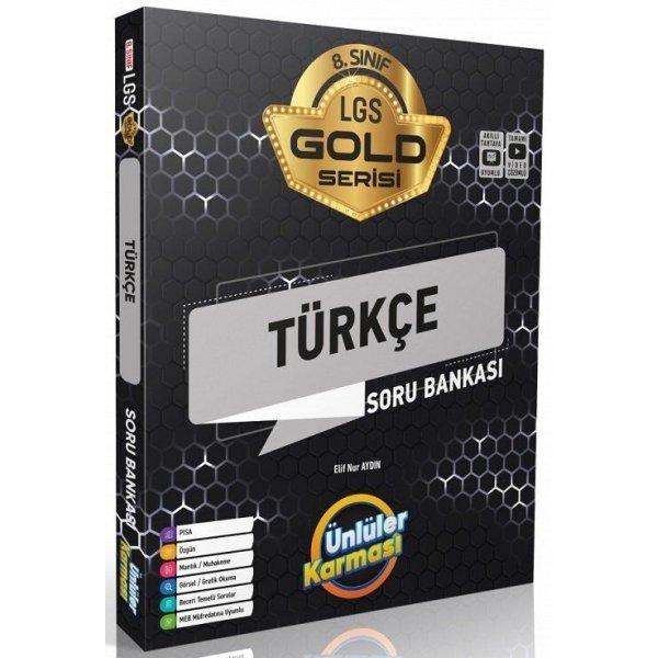 8. Sınıf LGS Türkçe Gold Serisi Soru Bankası Ünlüler Karması