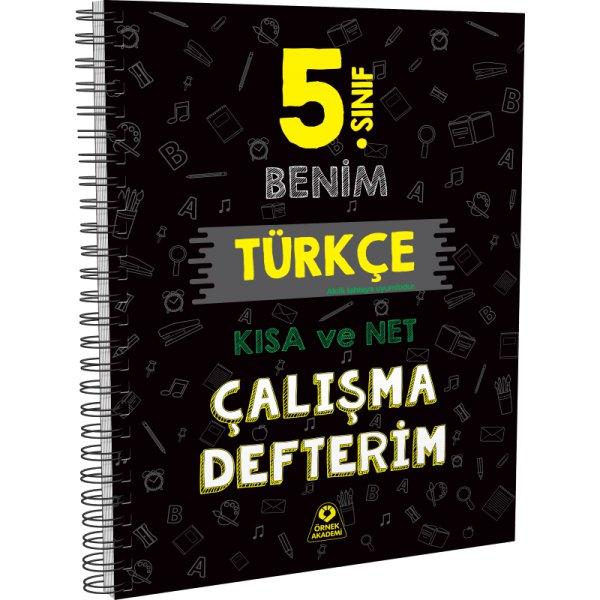 5. Sınıf Benim Türkçe Çalışma Defterim Örnek Akademi