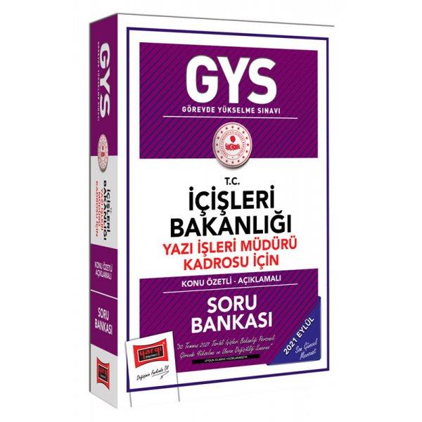 GYS T.C İçişleri Bakanlığı Yazı İşleri Müdürü Kadrosu İçin Konu Özetli Soru Bankası Yargı Yayınları