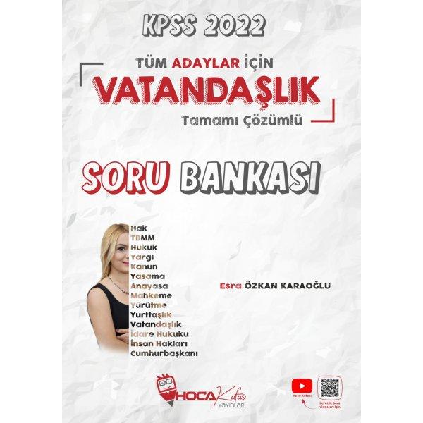 2022 KPSS Vatandaşlık Tamamı Çözümlü Soru Bankası Hoca Kafası Yayınları