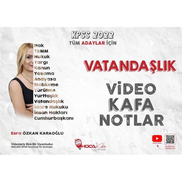 2022 KPSS Vatandaşlık Video Kafa Notlar Hoca Kafası Yayınları