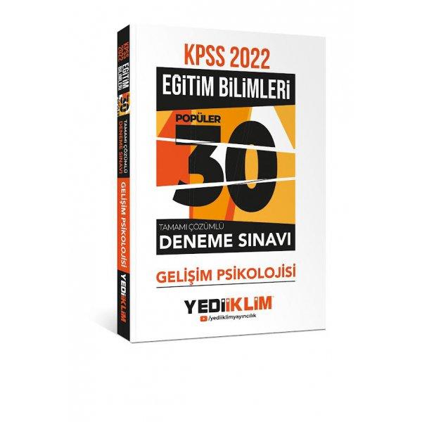 2022 KPSS Eğitim Bilimleri Gelişim Psikolojisi Tamamı Çözümlü 30 Popüler Deneme Yediiklim Yayınları