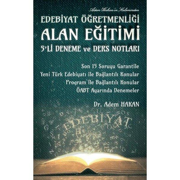 ÖABT Türk Dili ve Edebiyatı Alan Eğitimi 5 Deneme ve Ders  Notları Adem Hakan