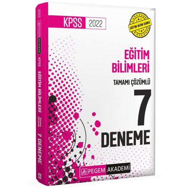 2022 KPSS Eğitim Bilimleri Tamamı Çözümlü 7 Deneme Pegem Yayınları