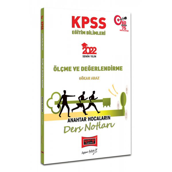 2022 KPSS Eğitim Bilimleri Ölçme ve Değerlendirme Anahtar Hocaların Ders Notları Yargı Yayınları