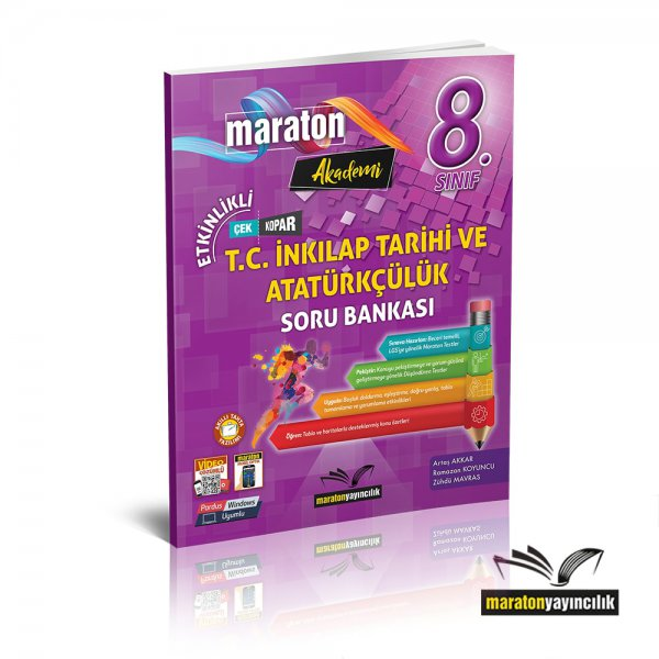 8.Sınıf LGS Etkinlikli T.C. İnkılap ve Atatürkçülük Soru Bankası Maraton Yayınları