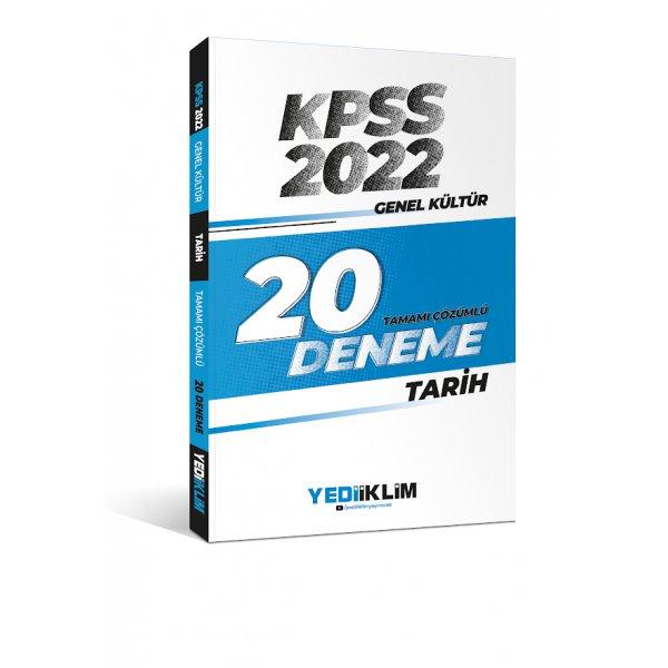 2022 KPSS Genel Kültür Tarih Tamamı Çözümlü 20 Deneme Sınavı Yediiklim Yayınları