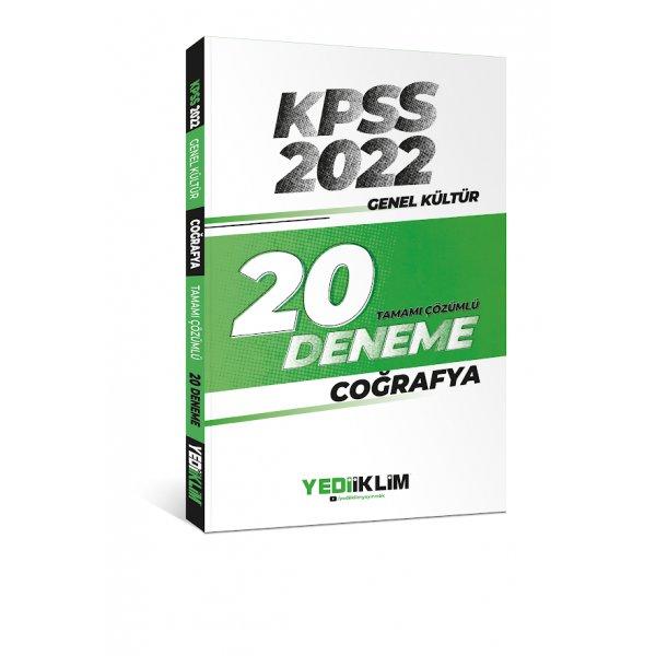 2022 KPSS Genel Kültür Coğrafya Tamamı Çözümlü 20 Deneme Sınavı Yediiklim Yayınları