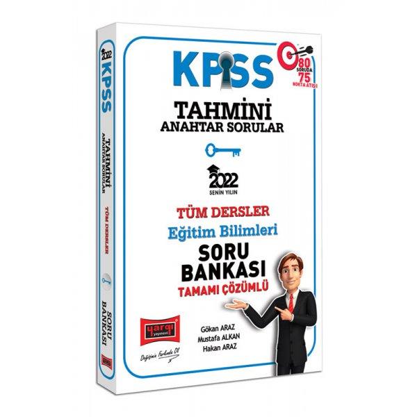 2022 KPSS Eğitim Bilimleri Tahmini Anahtar Sorular Tamamı Çözümlü Tüm Dersler Soru Bankası Yargı Yayınları