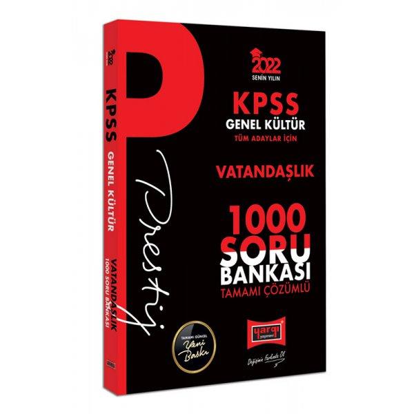 2022 KPSS Genel Kültür Vatandaşlık Prestij Seri Tamamı Çözümlü 1000 Soru Bankası Yargı Yayınları