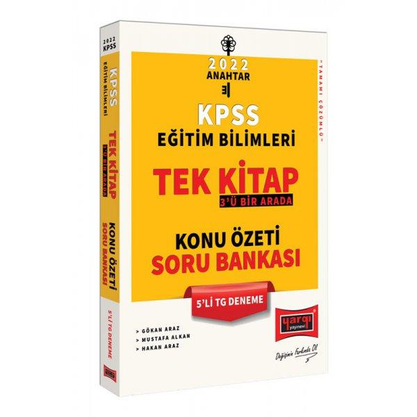 022 KPSS Eğitim Bilimleri 3'ü Bir Arada Tek Kitap Konu Özeti Soru Bankası 5'li TG Deneme Yargı Yayınları