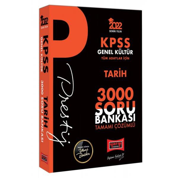 2022 KPSS Genel Kültür Tarih Prestij Seri Tamamı Çözümlü 3000 Soru Bankası Yargı Yayınları