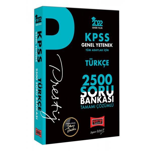 2022 KPSS Genel Yetenek Türkçe Prestij Seri Tamamı Çözümlü 2500 Soru Bankası Yargı Yayınları