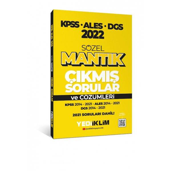 2022 KPSS-ALES-DGS Sözel Mantık Çıkmış Sorular ve Çözümleri Yediiklim Yayınları