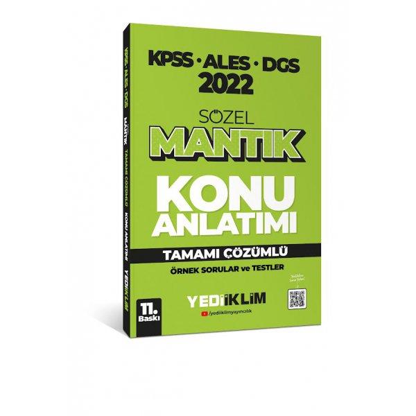2022 KPSS-ALES-DGS Sözel Mantık Konu Anlatımı Yediiklim Yayınları