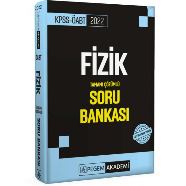 2022 ÖABT Fizik Tamamı Çözümlü Soru Bankası Pegem Yayınları