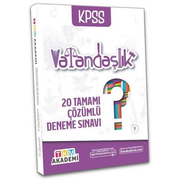 2022 KPSS Vatandaşlık 20 Deneme Çözümlü TKM Akademi