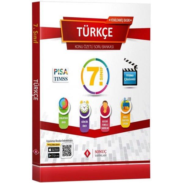 7. Sınıf Türkçe Kazanım Merkezli Soru Kitapçığı Seti Yenilenmiş Baskı Sonuç Yayınları