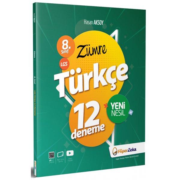 8. Sınıf LGS Zümre Türkçe 12 Deneme Hiper Zeka Yayınları