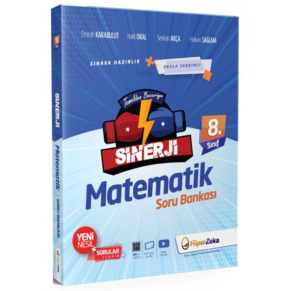 8. Sınıf LGS Matematik Sinerji Soru Bankası Hiper Zeka Yayınları