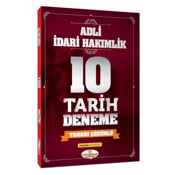 Adli İdari Hakimlik Tarih 10 Deneme Çözümlü Yönerge Yayınları
