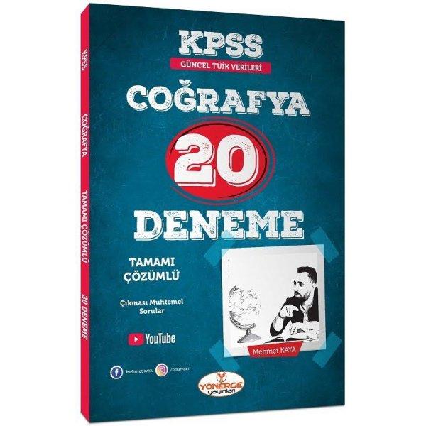 KPSS Coğrafya 20 Deneme Çözümlü Mehmet Kaya Yönerge Yayınları